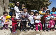هدیه های زیبای لیلا بلوکات برای کودکان کار+عکس
