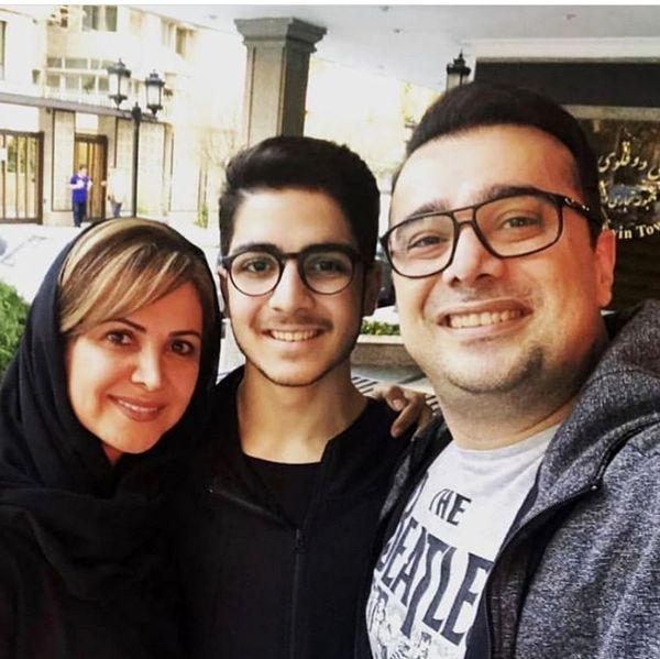 عکس کمند امیرسلیمانی به همراه پسر و برادرش