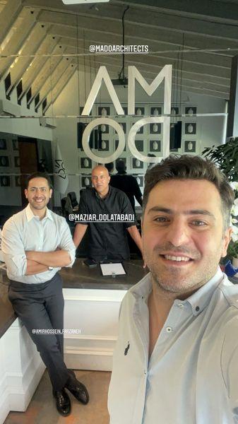 علی ضیا و دوستانش + عکس