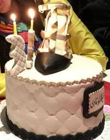 عکس کیک لاکچری تولد لیلا اوتادی