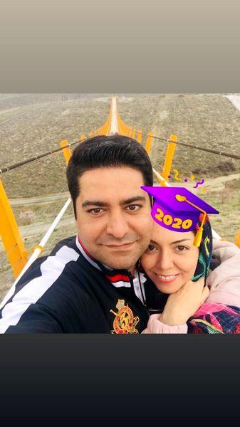 عاشقانه های آزاده نامداری و همسرش + عکس