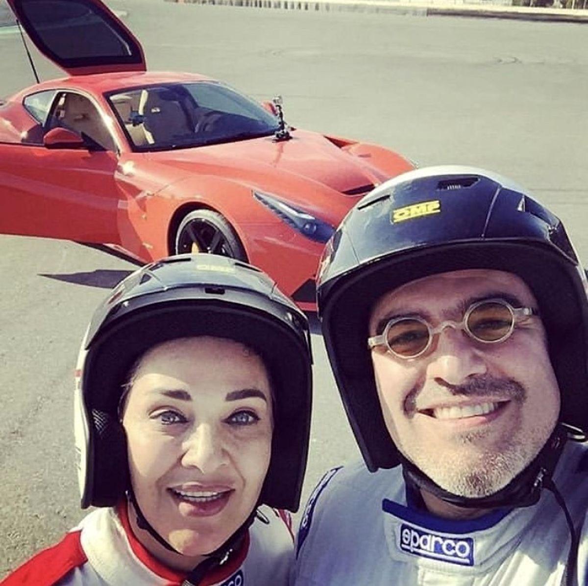 رویا نونهالی و همسرش با لباسی متفاوت + عکس