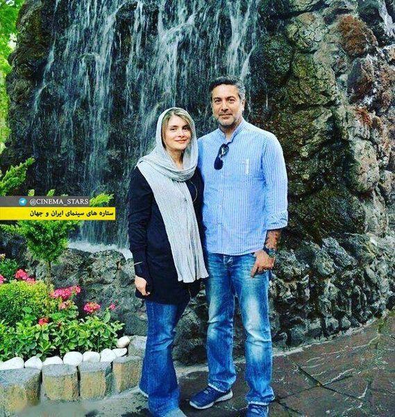 عکس بازیگر آوای باران و همسرش در گردش