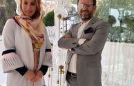 فریبا نادری و همسرش در تالار+عکس