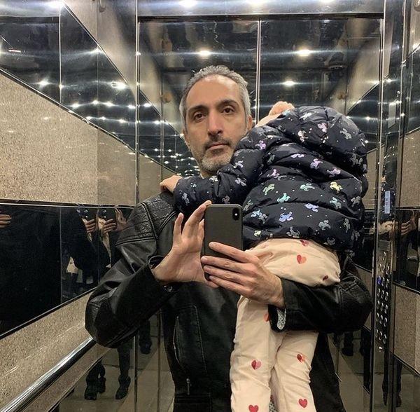 دختر امیرمهدی ژوله در آغوش پدرش + عکس