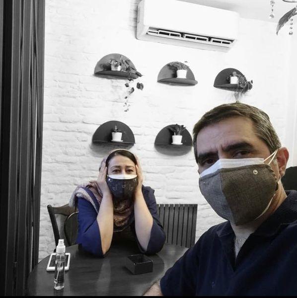 فاطمه هاشمی و همسرش در یک رستوران + عکس