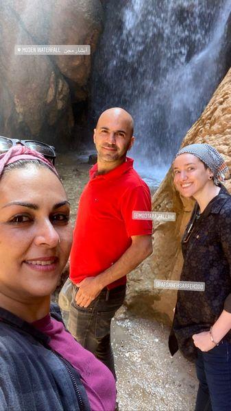طبیعت گردی شیوا ابراهیمی با دوستانش + عکس