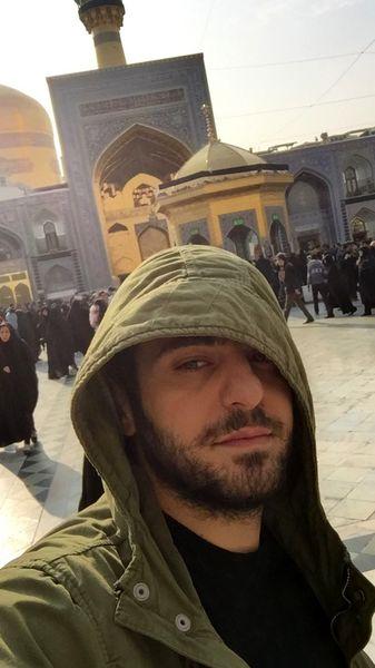 علی ضیا در مشهد + عکس