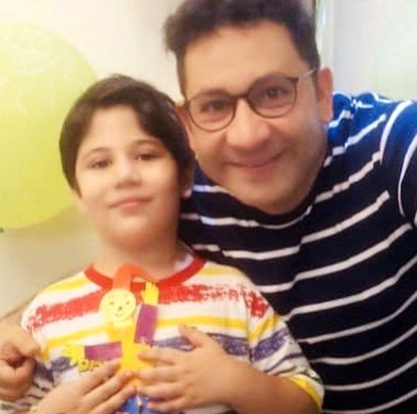 سلفی جدید سروشجمشیدی و پسرش + عکس