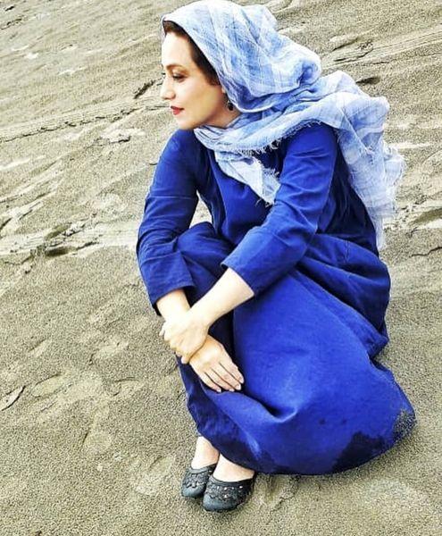 شبنم مقدمی در ساحل + عکس