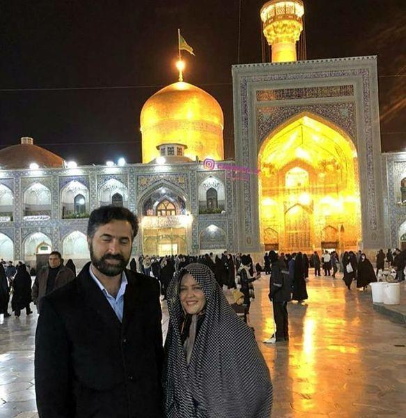 بهاره رهنما و همسرش در زیارت + عکس
