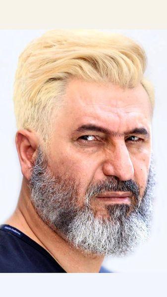 حمید فرخ نژاد با موی بلوند + عکس