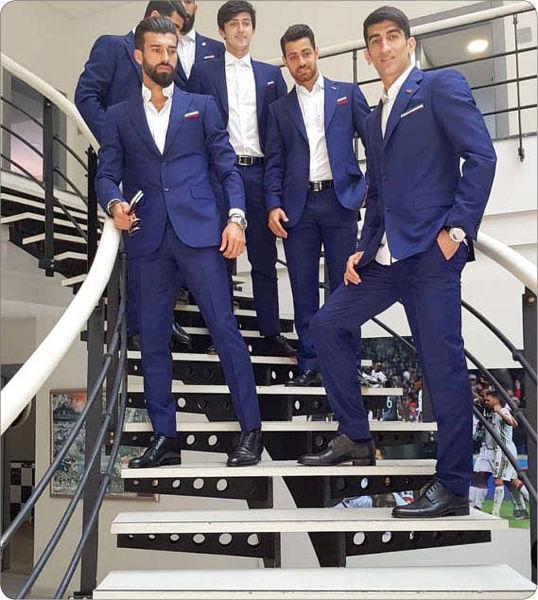 پوشش ظاهری بازیکنان تیم ملی فوتبال ایران در یک سایت انگلیسی