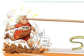 دماغ ترامپ هم به کمکش نیامد!/ کاریکاتور