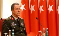بازدید وزیر دفاع ترکیه و هیات همراهش از یگانهای نظامی در مرز سوریه