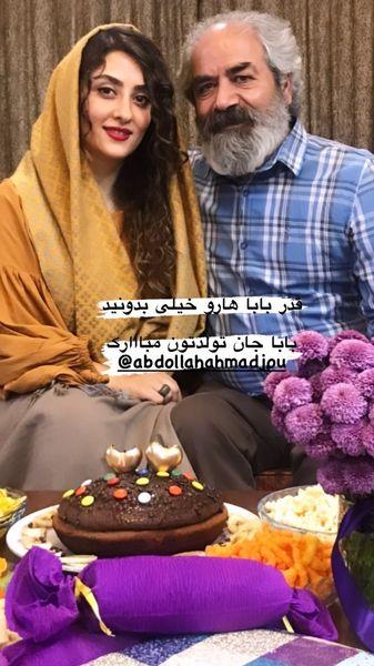 الهام طهموری در کنار پدرش + عکس
