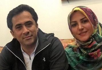 المیرا شریفیمقدم و همسرش پای سفره هفت سین