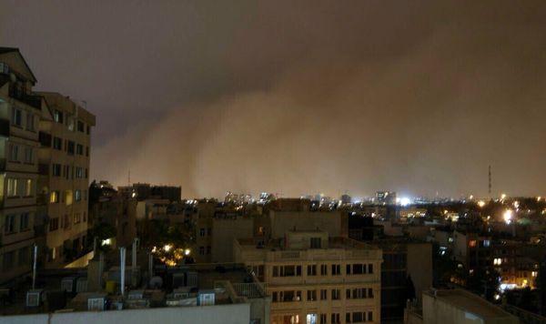 طوفان امشب تهران را درمی نوردد