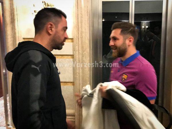 ملاقات غیرمنتظره ژاوی و مسی در ایران(عکس)