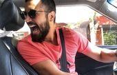 خنده های بی امان مهرداد صدیقیان در ماشینش + عکس