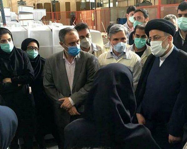 حضور حجت الاسلام رئیسی در شهرک صنعتی عباس آباد