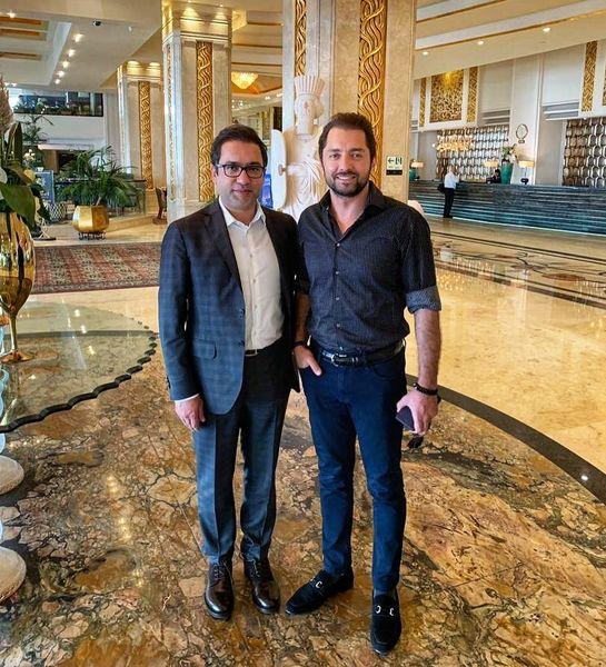 بهرام رادان در کنار مایه افتخارش+عکس