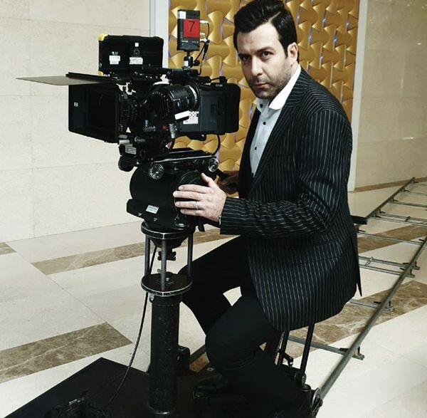 مجید واشقانی در حال فیلمبرداری + عکس