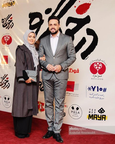 ست کردن مجری خوش تیپ تلویزیون با همسرش+عکس