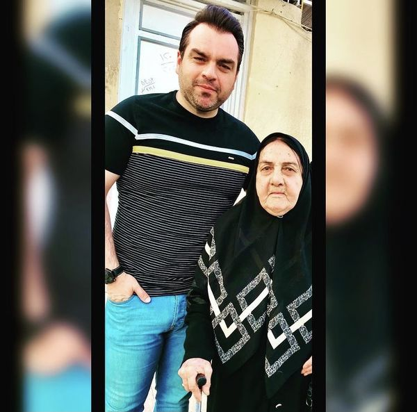 شهرام قائدی در کنار مادرش + عکس