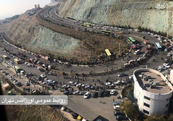 عکس هوایی از محل واژگونی مرگبار اتوبوس دانشجویان