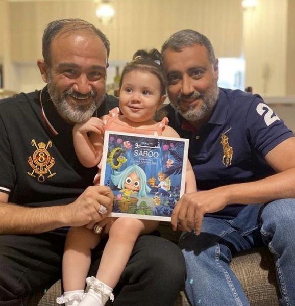 عکس جدید مهران غفوریان با دخترش