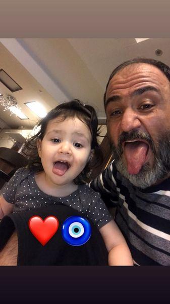 شیرین کاری های مهران غفوریان با دخترش + عکس