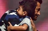 عکس احساسی پسر نمکی و محمدرضا گلزار