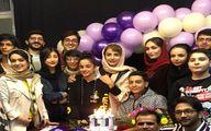 مراسم تولد شبنم قلی خانی در میان هنرجویانش