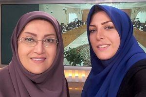 توضیح المیرا شریفی مقدم درباره سوتی خنده دارش درمورد سامانه پوشکی! عکس