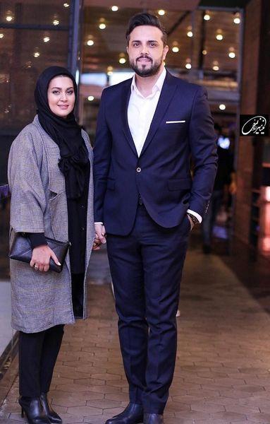 پدرام کریمی و همسرش + عکس