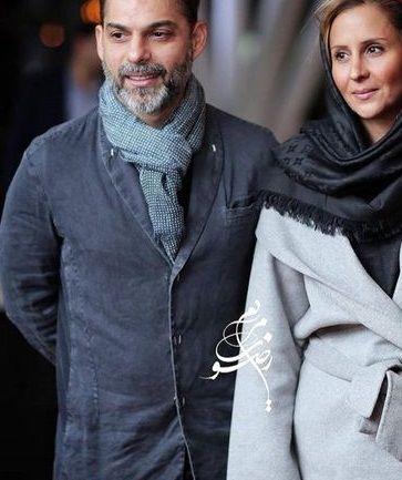 عکس پیمان معادی و همسرش