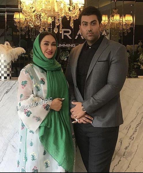 الهام حمیدی و همسرش + عکس