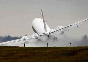 فرود اضطراری یک بوئینگ 737 در روسیه