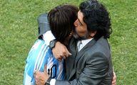 واکنش مسی به درگذشت دیگو مارادونا