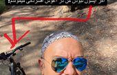 دوچرخه سواری احسان کرمی در طبیعت + عکس