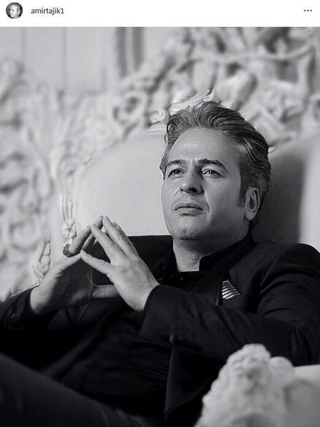 امیر تاجیک با ژست آتلیه ای + عکس