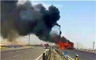 آتشسوزی در اتوبوس با 47 مسافر
