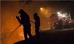 آتش سوزی گسترده در منچستر انگلیس