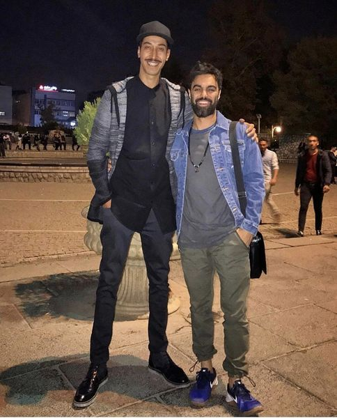 مهدی ماهانی در کنار بازیگر خوش قامت سینمای ایران + عکس
