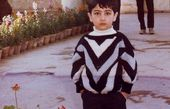عکس کودکی علی سخنگو