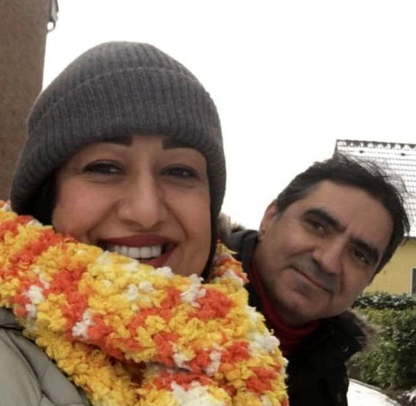 فاطمه هاشمی در کنار همسرش + عکس