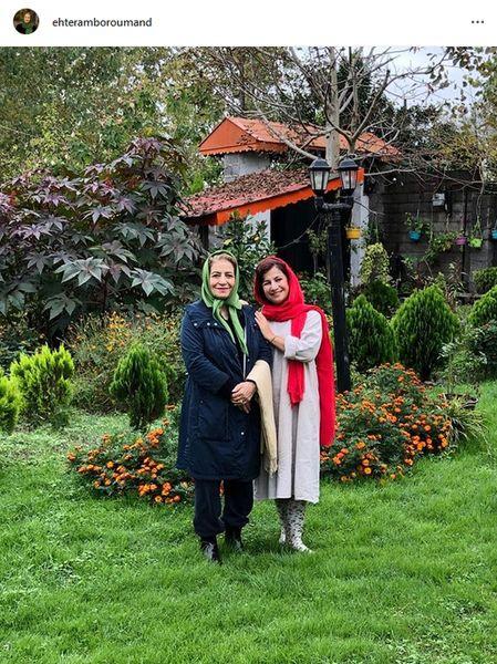 همسر و دختر بازیگر داود رشیدی در ویلایی بی نظیر+عکس