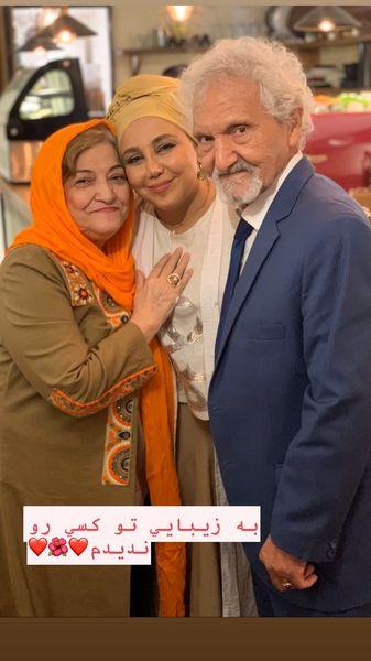 بهنوش بختیاری در خانه پدر و مادرش + عکس
