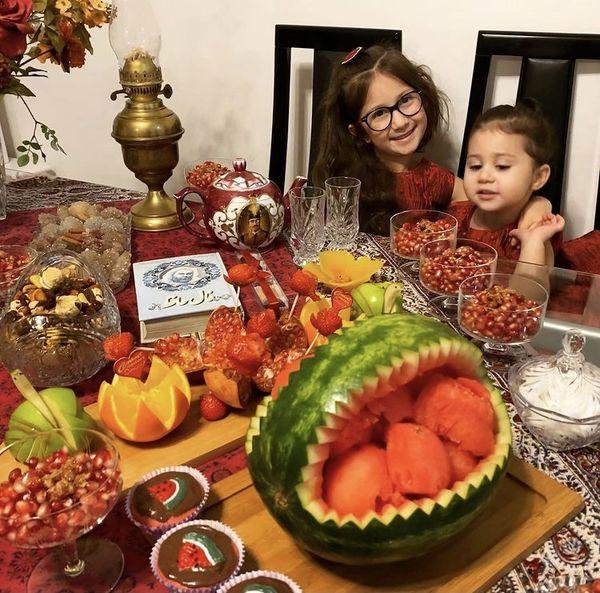 شب یلدای خانه شاهرخ استخری + عکس